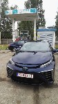 Toyota Mirai  and NRI Hydrogen filling station in tNeratovice